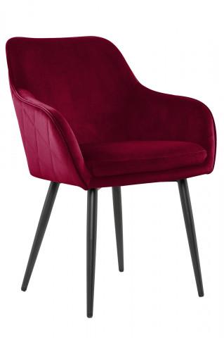 Scaun din catifea roșu