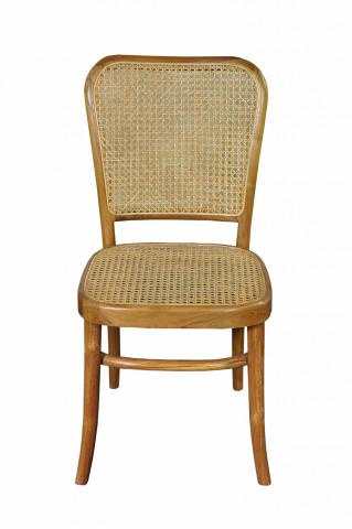 Scaun din lemn de tec si ratan Sit&Chairs