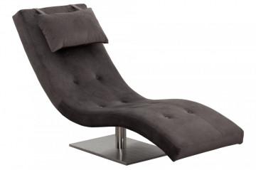 Scaun sezlong tapițat cu pernă inclusă Relax gri