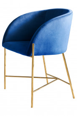Scaun tapitat albastru