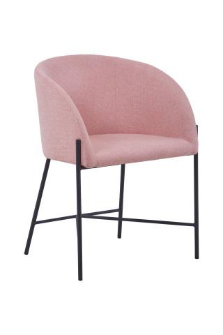 Scaun tapitat roz pal