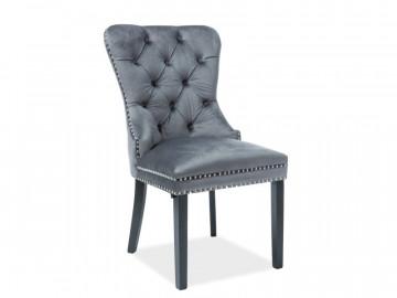 Set 2 scaune din catifea August gri