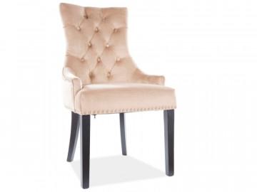 Set 2 scaune din catifea Edward bej
