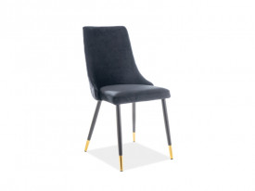 Set 2 scaune din catifea Piano negre