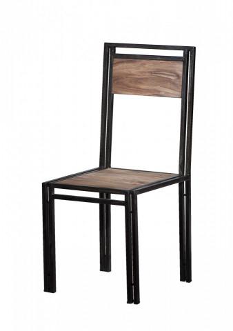 Set 2 scaune din lemn Panama maro/negru