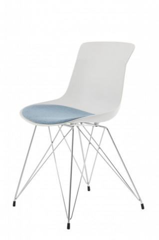 Set 2 scaune Emily alb/albastru inchis