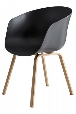 Set 2 scaune Nordin negre