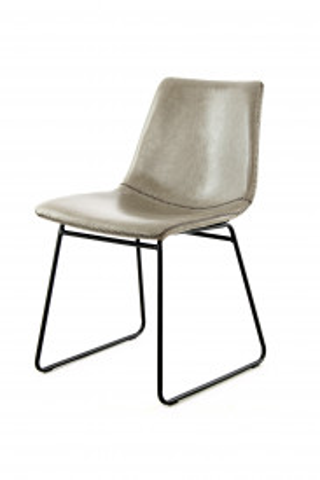 Set 2 scaune piele artificiala Caila gri
