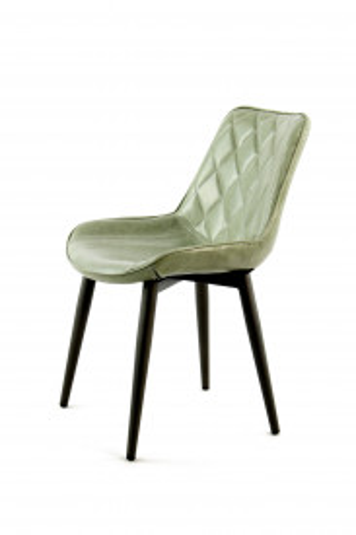 Set 2 scaune piele artificiala Cecil verde deschis