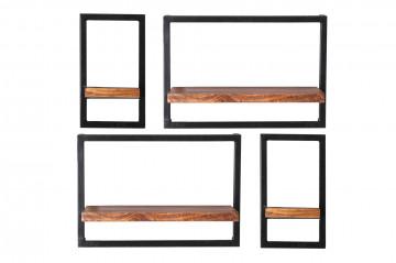 Set 4 etajere din lemn de mango Panama 20x25x35 cm/50x25x35 cm