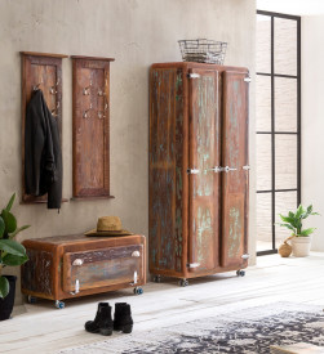 Set 4 piese mobilier pentru hol din lemn Fridge