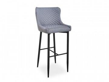 Set 4 scaune de bar tapitate Colin gri