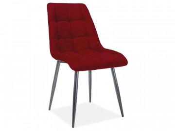 Set 4 scaune din catifea Chic rosu mat