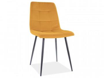 Set 4 scaune din catifea Mila galben mat
