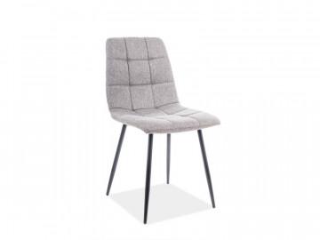 Set 4 scaune din catifea Mila gri/negru