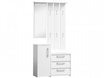 Set pentru hol din lemn 190 x 89 x 40 cm alb