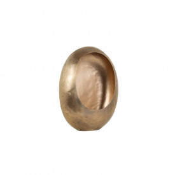 Suport lumanare din metal Magly, gold