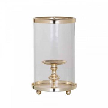 Suport lumanare din sticla Havily, gold