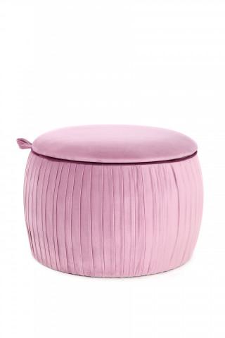 Taburet tapitat cu spatiu pentru depozitare Adoree roz