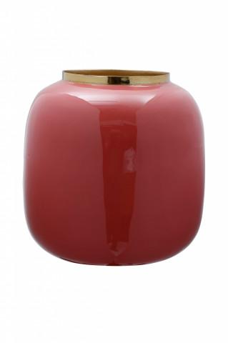 Vaza din fier Art Deco, corai / auriu