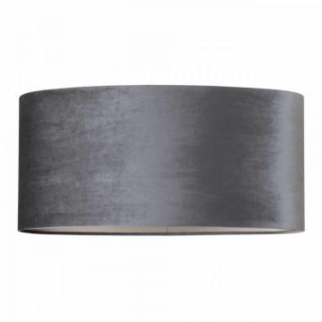 ABAJUR oval din polyester Emily velvet graphite
