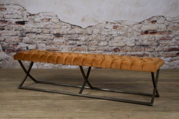Bancheta Bolton din catifea/genova portocaliu