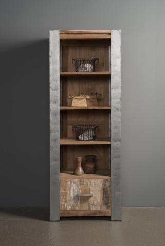 Biblioteca din tec reciclat 70x190 cm