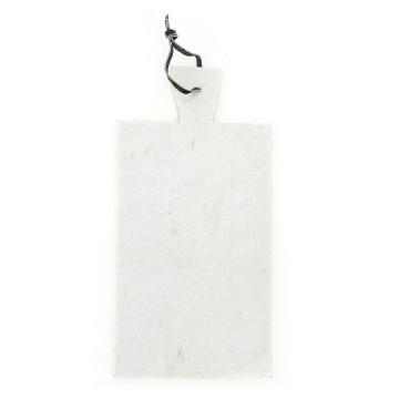 Blat pentru servire dreptunghiular din marmura CB1, alb, 20x43 cm