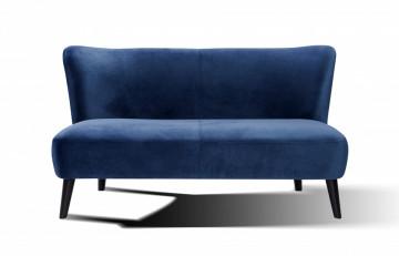 Canapea catifea, 2 locuri, albastru