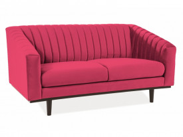 Canapea din catifea Asprey rosu intens, 2 locuri