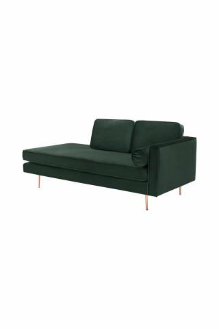 Canapea Estelle verde, 3 locuri, pe dreapta