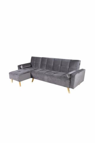 Canapea Maloni extensibila pe stânga, 3 locuri, gri