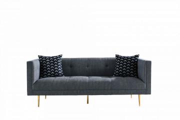 Canapea simpla, 2 locuri, gri