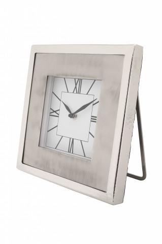 Ceas de masă Moments 3x22x22 cm argintiu