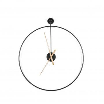 Ceas de perete 50x6x50 cm negru