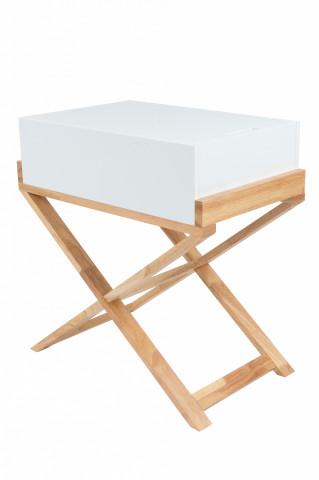 Comoda din lemn Valerie alba 56x34x58 cm
