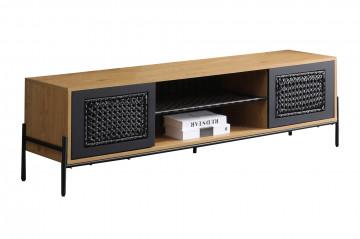 Comoda TV din MDF 161 cm negru/maro