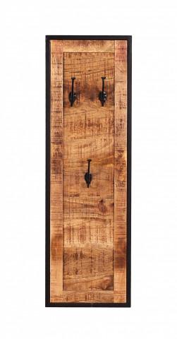 Cuier din lemn de mango si metal Sidney 35 x 110 cm