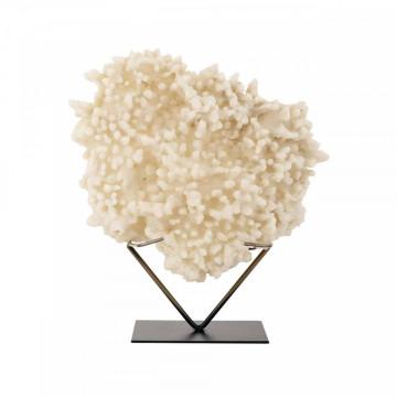 Decoratiune coral din metal Divine, beige