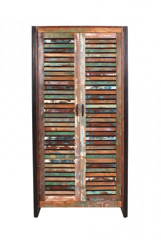 Dulap din lemn reciclat Fiume multicolor 90 x 45 x 180 cm