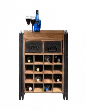 Dulapior pentru vin din salcam Panama, 16 compartimente pentru sticle
