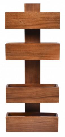 Etajera din lemn de salcam 30x9x72 cm