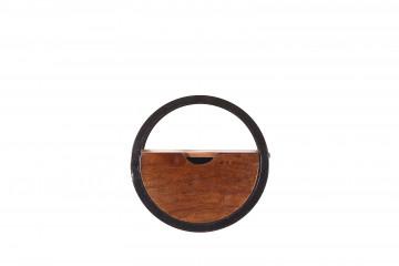 Etajera din lemn de salcam si fier Panama 30 x 20 cm