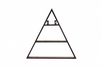 Etajera triunghiulara din lemn de mango si fier Panama 50 x 13 cm