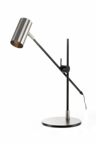 Lampa decorativa din fier Target argintie / neagra, un bec