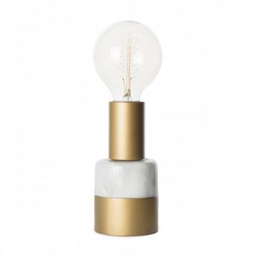 Lampa decorativa din marmura/fier Lalande gri, un bec
