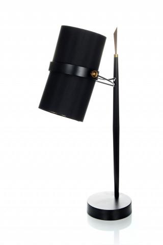 Lampa decorativa din tesatura/metal Novum neagra, un bec