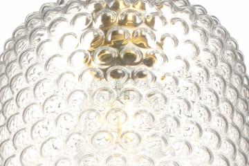 Lustra din sticla Irene transparenta, un bec