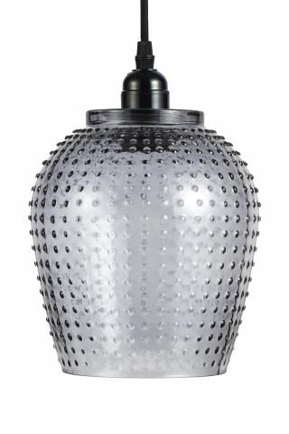 Lustra din sticla Riva gri, un bec