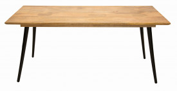 Masa dreptunghiulara cu blat din lemn de mango Tom Tailor 140x80x77 cm maro/neagra